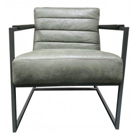 Chair Edgar thick leather Dark Green