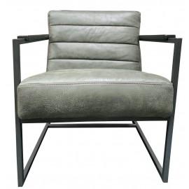 Chair Edgar thick leather Dark Green