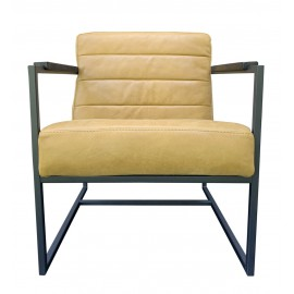 Chair Edgar thick leather Mustard