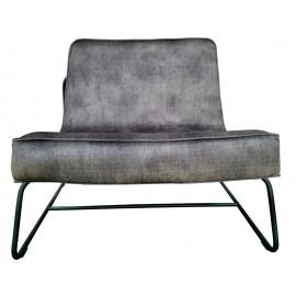 Chair Abel Vintage velvet Lava