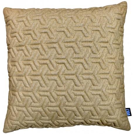 Cushion 3D Geometric New felt Gold melange 60x60cm