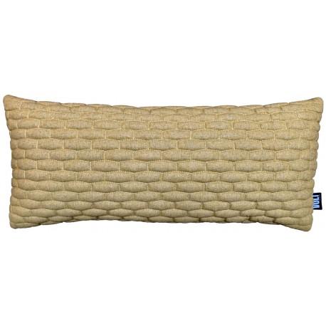 Cushion 3D Small bricks New felt Gold melange 30x70cm