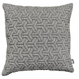 Cushion 3D Geometric Herring bone Black/White 60x60cm