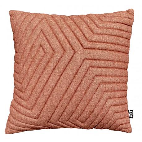 Cushion 3D New Maze Felt Rust 60x60cm