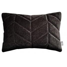 Cushion 3D Fishbone Velvet Black 40x60cm
