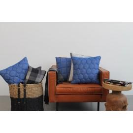 Cushion 3D Circles Jeans Blue