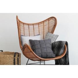 Cushion 3D Blocks Black