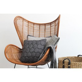 Cushion 3D Honeycomb Black