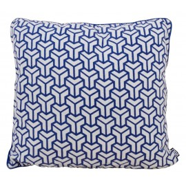 Cushion Geometric vintage linen 60x60cm