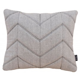 Cushion 3D bio cotton slub fishbone 55x40cm W/B