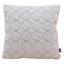 Cushion 3D circles 60x60cm W/B