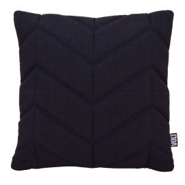 Cushion 3D fishbone 45x45cm black bio cotton