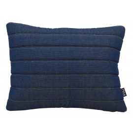 Cushion 3D stripes 55x40cm denim