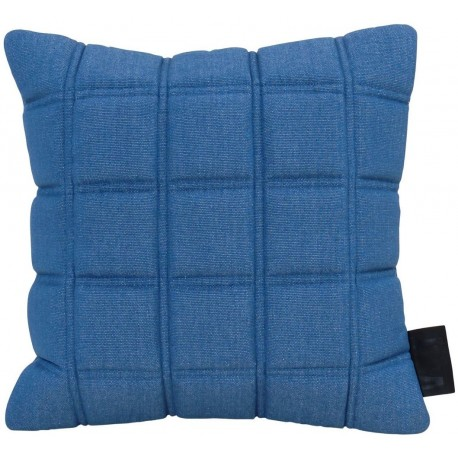Cushion 3D blocks 45x45cm denim/white