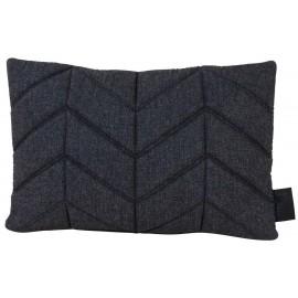 Cushion 3D wool 40x60cm fishbone black melange