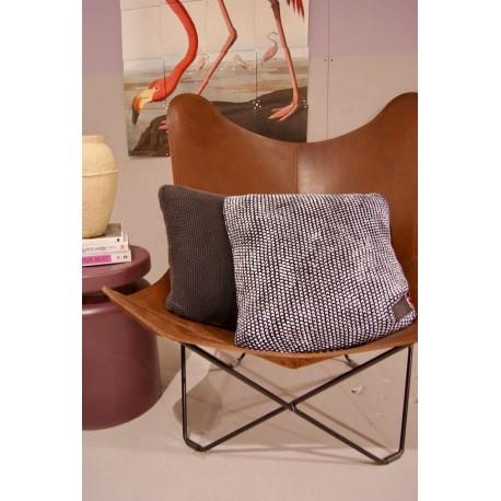 Cushion foil knitted 45x45cm B/W