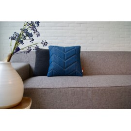 Cushion 3D fishbone 45x45cm denim