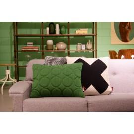 Cushion 3D circles 55x40cm green
