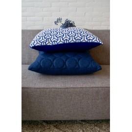 Cushion Geometric vintage linen 60x60cm