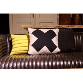 Cushion off white with black cross