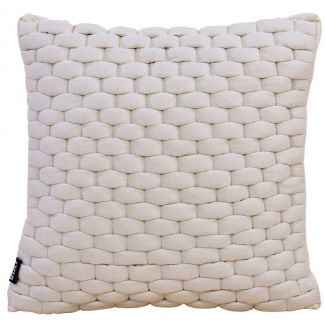 Cushion 3D Weave 45x45cm off white