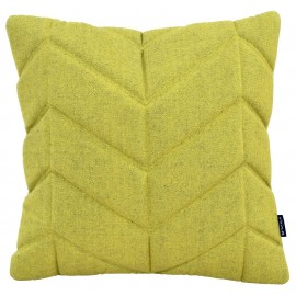 Cushion 3D Fishbone 45x45cm yellow melange