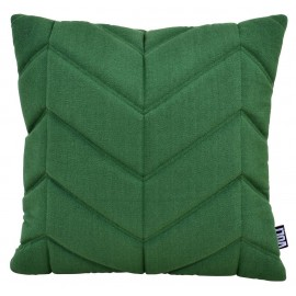 Cushion 3D fishbone 45x45cm green melange bio cotton