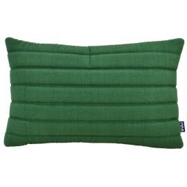 Cushion 3D stripes 40x60cm green melange bio cotton