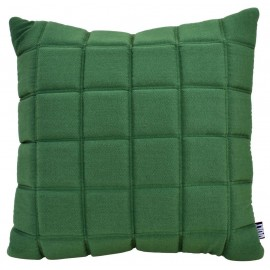 Cushion 3D blocks 60x60cm green melange bio cotton