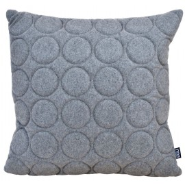 Cushion 3D circles felt 60x60cm ash grey melange