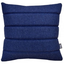 Cushion 3D stripes 45x45cm wool blue melange