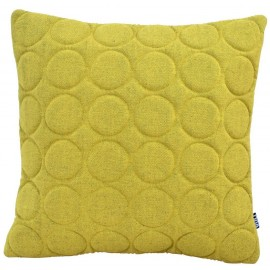 Cushion 3D circles 60x60cm yellow/black