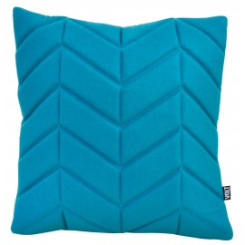 Cushion 3D fishbone petrol felt 60x60cm