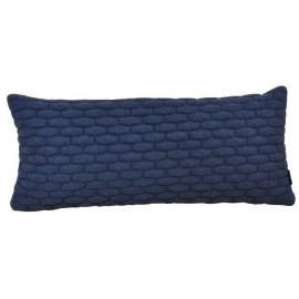 Cushion 3D small bricks dark blue felt 30x70cm