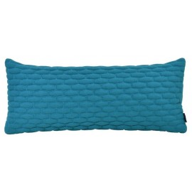 Cushion 3D small bricks petrol/aqua felt 30x70cm