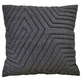 Cushion 3D Maze blue wool 60x60cm