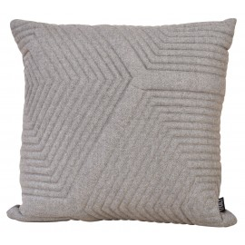 Cushion 3D Herringbone wool Maze 60x60cm