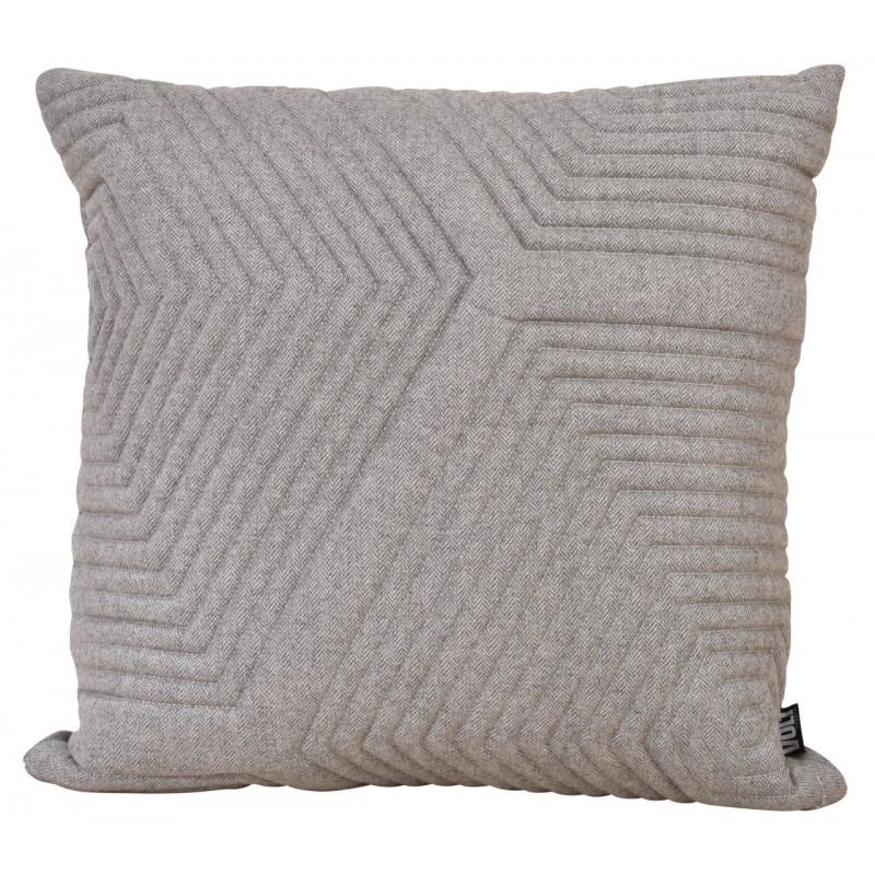 Cushion 3D Herringbone wool Maze 60x60cm - VOLT studio