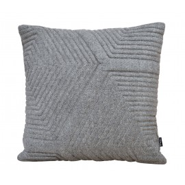 Cushion 3D Maze Matty wool 60x60cm grey2