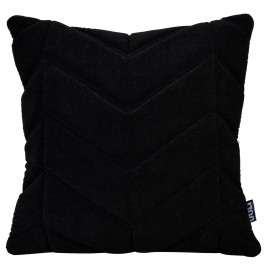 Cushion 3D Fishbone 45x45cm Velvet Black