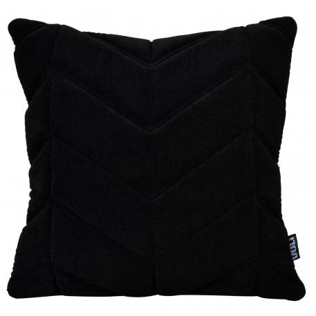 Cushion 3D Fishbone 45x45cm Velvet Black