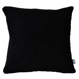 Cushion 3D Maze 60x60cm Velvet Black