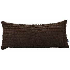 Cushion 3D Crocodile 30x70cm Velvet Golden brown