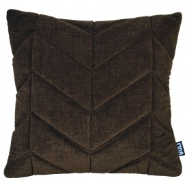 Cushion 3D Fishbone 45x45cm Velvet Golden brown