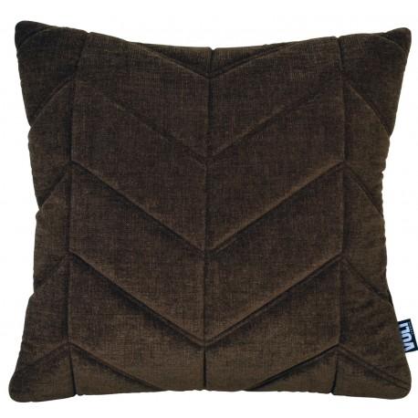 Cushion 3D Fishbone 45x45cm Velvet Golden brown