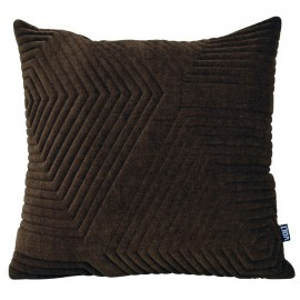 Cushion 3D Maze 60x60cm Velvet Golden brown