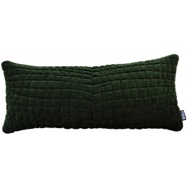 Cushion 3D Velvet Crocodile 30x70cm Pista green