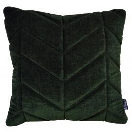 Cushion 3D Fishbone Velvet Pista green 45x45cm