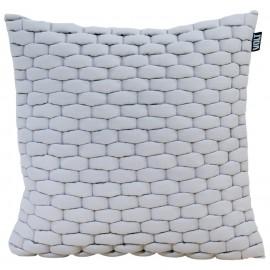Cushion 3D Weave 45x45cm ash grey