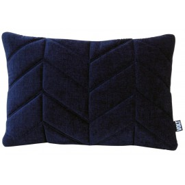 Cushion 3D fishbone 40x60cm velvet dark blue